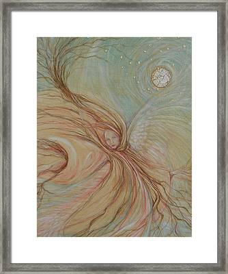 Between Here And There Framed Print by Caroline Czelatko