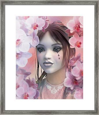 Between Orchids Framed Print by Jutta Maria Pusl