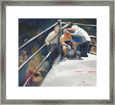 Between Rounds Framed Print by Hil Hawken