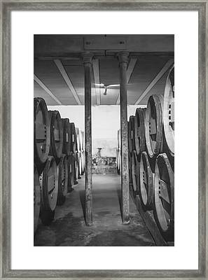 Between The Barrels - Vertical Framed Print by Georgia Fowler
