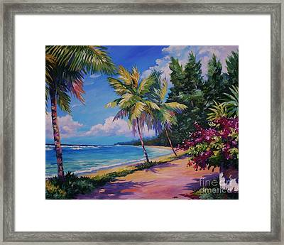 Between The Palms 20x16 Framed Print by John Clark