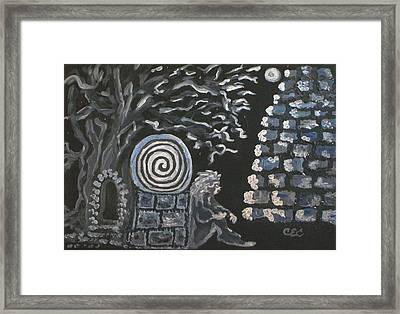 Between Worlds Framed Print by Carolyn Cable