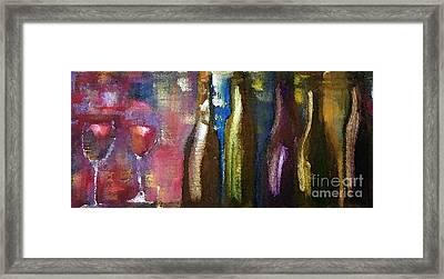 Beverage And Bottles Framed Print by Lisa Kaiser