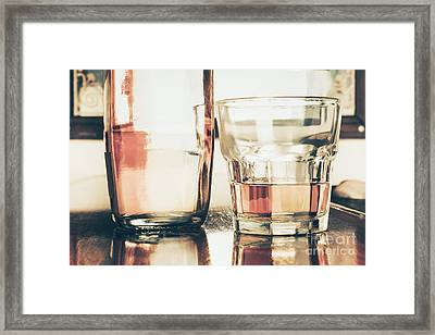 Beverage Picture On A Glass Of Golden Rum 50ml Framed Print by Jorgo Photography - Wall Art Gallery