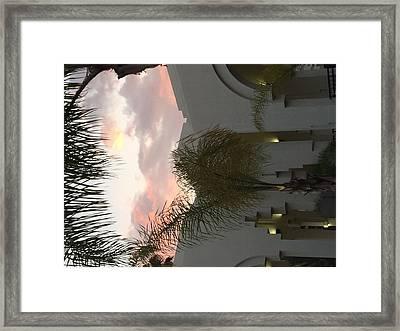 Beverly Hills Sunset Framed Print by Chris Lynch