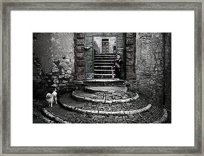 Beware Of The Dog! Framed Print by Michiel Hageman