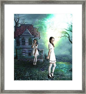 Beware The Evil Twin Framed Print by Tammera Malicki-Wong