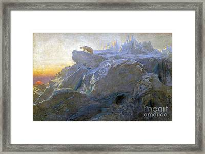 Beyond Man Footstep Framed Print by Briton Riviere