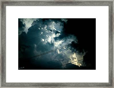 Beyond The Electric Fence Framed Print by Ed Smith