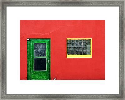 Beyond The Green Door Framed Print by Todd Klassy