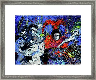 Beyond The Masks Framed Print by Mona Edulesco