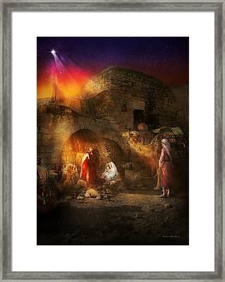 Bible - Jesus - Seeking The Christ Child 1920 Framed Print by Mike Savad