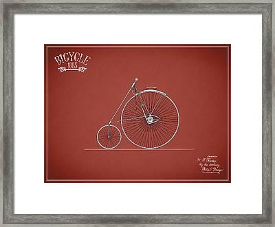 Bicycle 1885 Framed Print by Mark Rogan