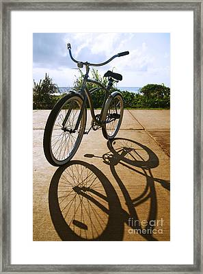 Bicycle And Shadow Framed Print by Kicka Witte - Printscapes