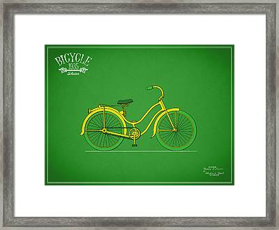 Bicycle Design 1935 Framed Print by Mark Rogan