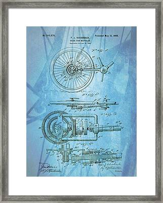 Bicycle Gear Patent Illustration Framed Print by Dan Sproul
