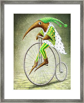 Bicycle Framed Print by Lolita Bronzini
