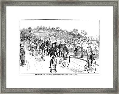 Bicycle Meet, 1883 Framed Print by Granger