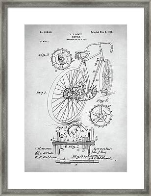 Bicycle Patent Framed Print by Taylan Soyturk
