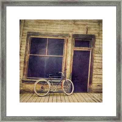 Bicycle Framed Print by Priska Wettstein