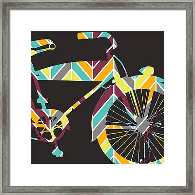 Bicycle V1 Framed Print by Brandi Fitzgerald