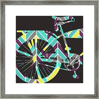 Bicycle V2 Framed Print by Brandi Fitzgerald