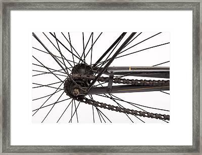 Bicycle Wheel Framed Print by American School