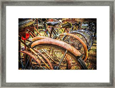 Bicycles Framed Print by Debra and Dave Vanderlaan