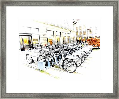 Bicycles For Hire Framed Print by Dorothy Berry-Lound