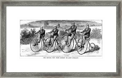 Bicycling, 1873 Framed Print by Granger