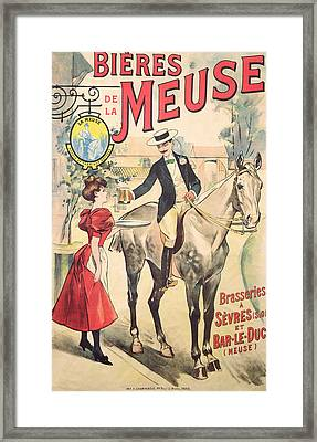 Bieres De La Meuse Framed Print by French School