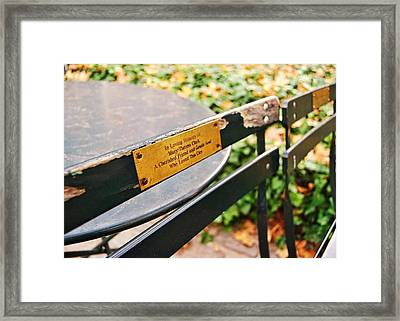 Big Apple Love Framed Print by JAMART Photography