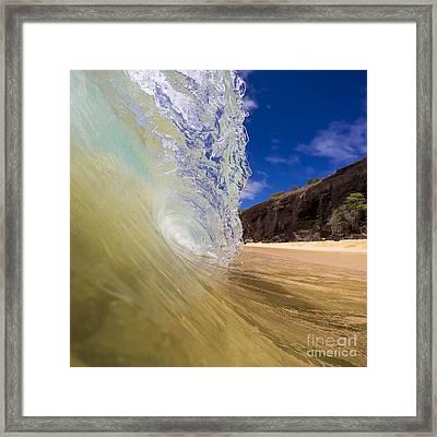 Big Beach Maui Shore Break Wave Framed Print by Dustin K Ryan