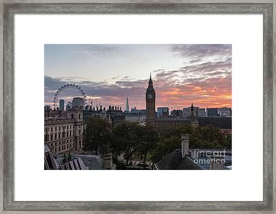Big Ben London Sunrise Framed Print by Mike Reid