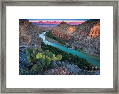 Big Bend Evening Framed Print by Inge Johnsson
