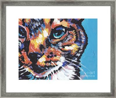 Big Blue Eyes Framed Print by Lea S