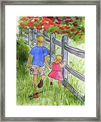 Big Brother Framed Print by Arlene  Wright-Correll