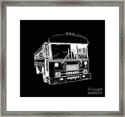 Big Bus Tee Framed Print by Edward Fielding