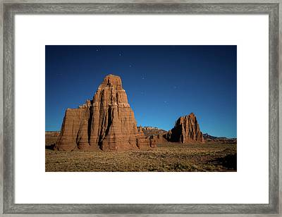 Big Dipper Over Capitol Reef National Park Framed Print by James Udall