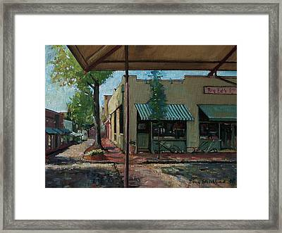 Big Eds Cafe Raleigh Nc Framed Print by Doug Strickland