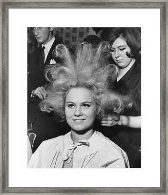 Big Hair Framed Print by Fred Mott