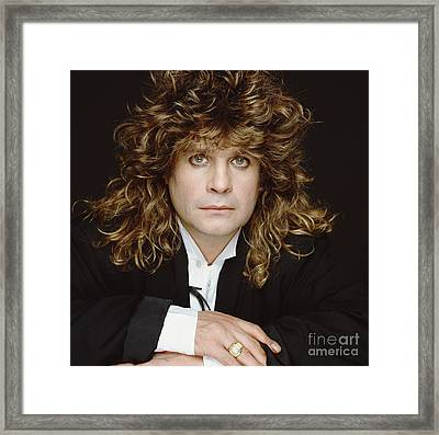Big-haired Ozzy Framed Print by Terry O'Neill