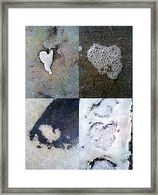 Big Hearts White Framed Print by Boy Sees Hearts