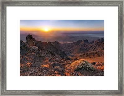 Big Indian Canyon Framed Print by Leland D Howard