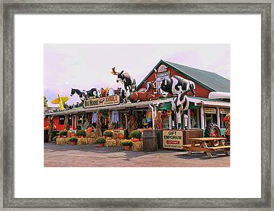 Big Moose Deli And Country Store  # 2 Framed Print by Allen Beatty