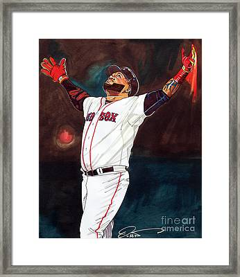 Big Papi David Ortiz Framed Print by Dave Olsen