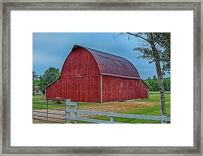 Big Red Barn At Cross Village Framed Print by Bill Gallagher