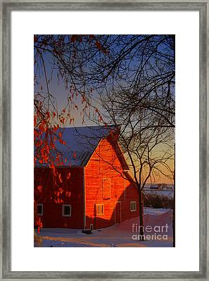 Big Red Barn Framed Print by Julie Lueders