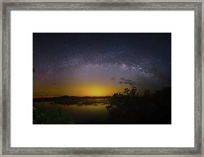 Big Sky Galaxy Framed Print by Mark Andrew Thomas