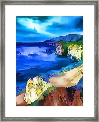 Big Sur Coast Framed Print by ABeautifulSky Photography